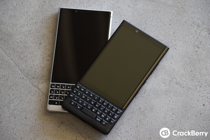 BlackBerry KEY2 in Silver and Black