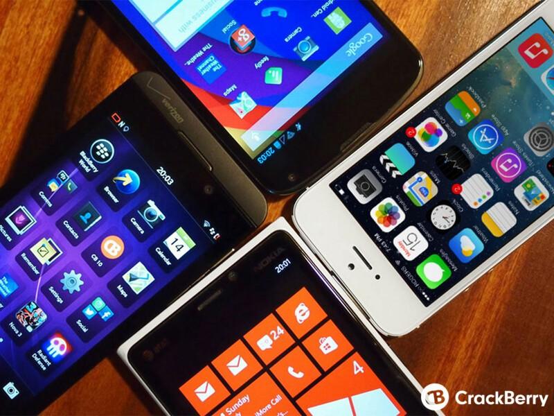 iPhone Windows Phone BlackBerry Android