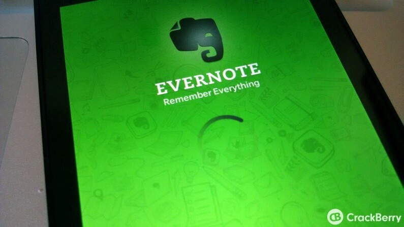 Evernote for BlackBerry 10 updated with various improvements and bug fixes