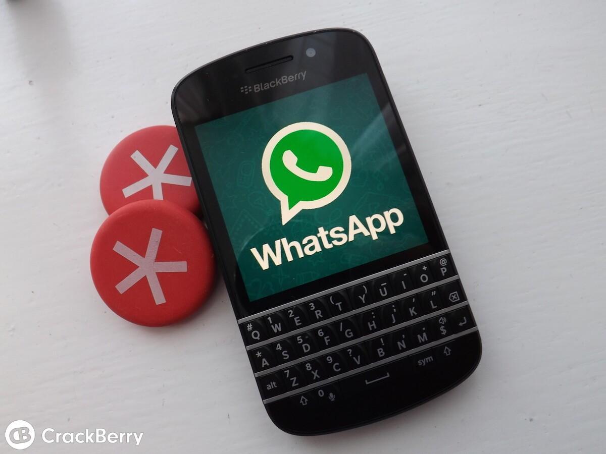 WhatsApp on a BlackBerry Q10