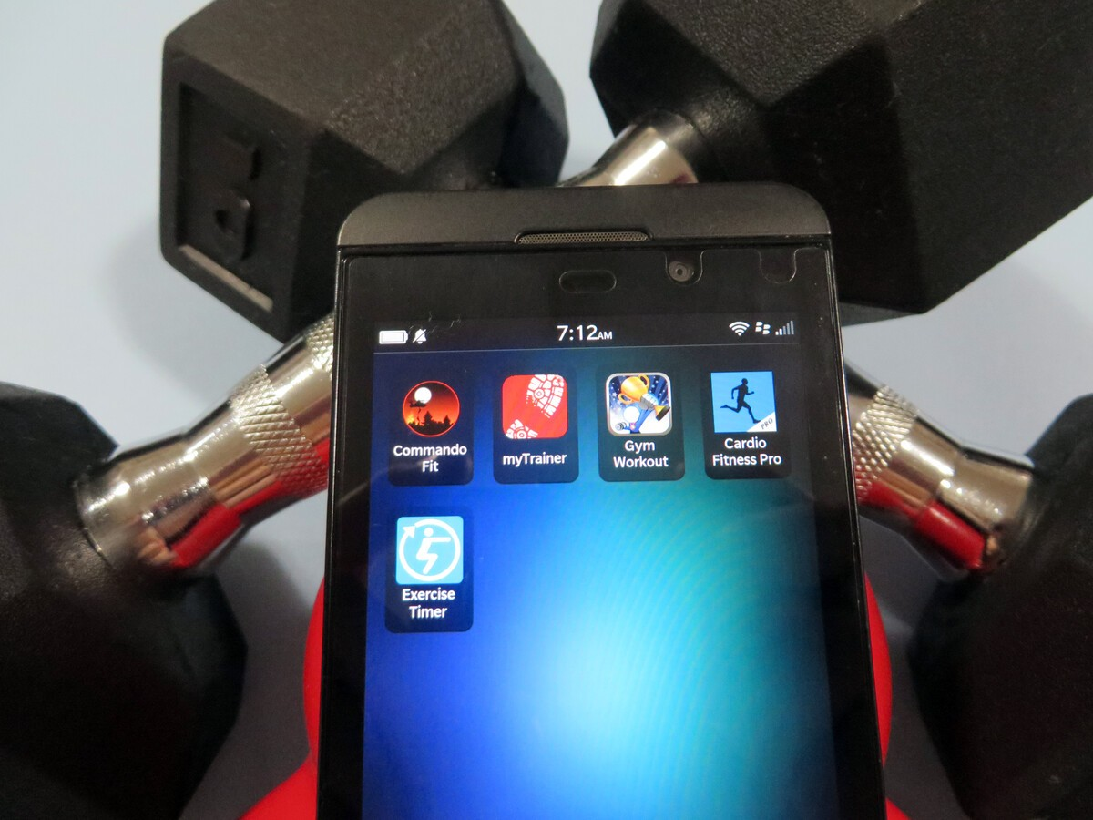 Best gym/weights apps for BlackBerry