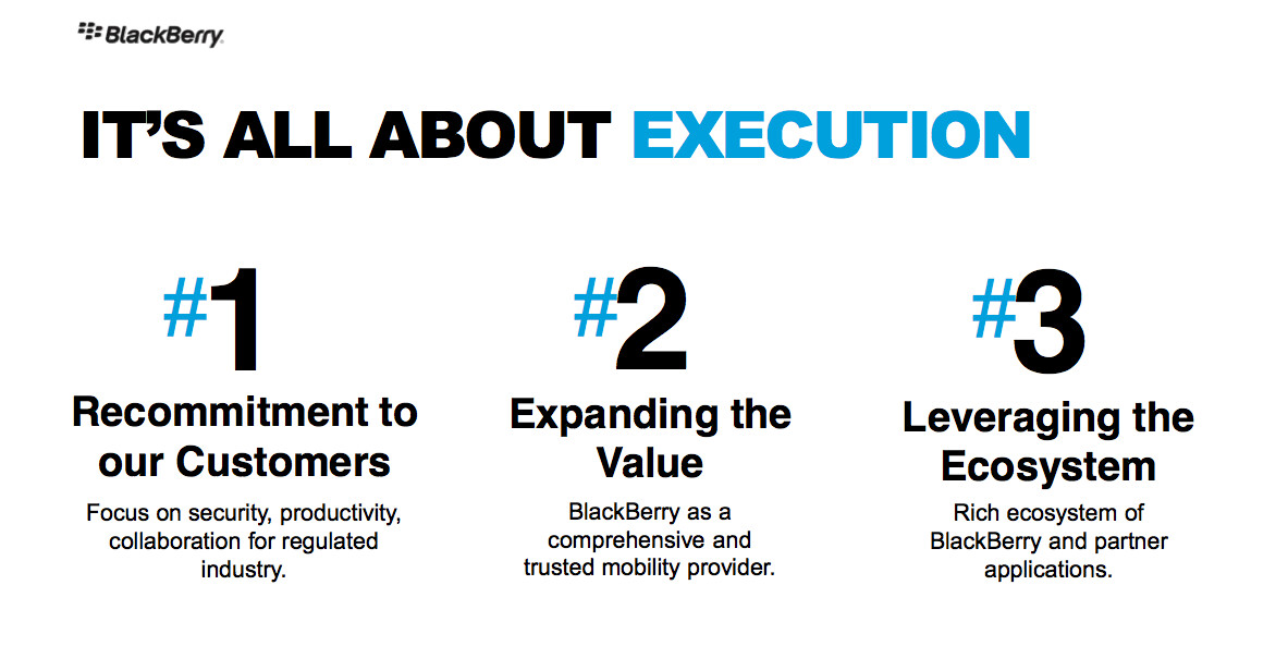 BlackBerry Experience Execution Slide