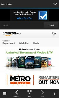 Shopping for Amazon Main screen