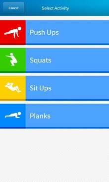 Sportrate Workout Activities
