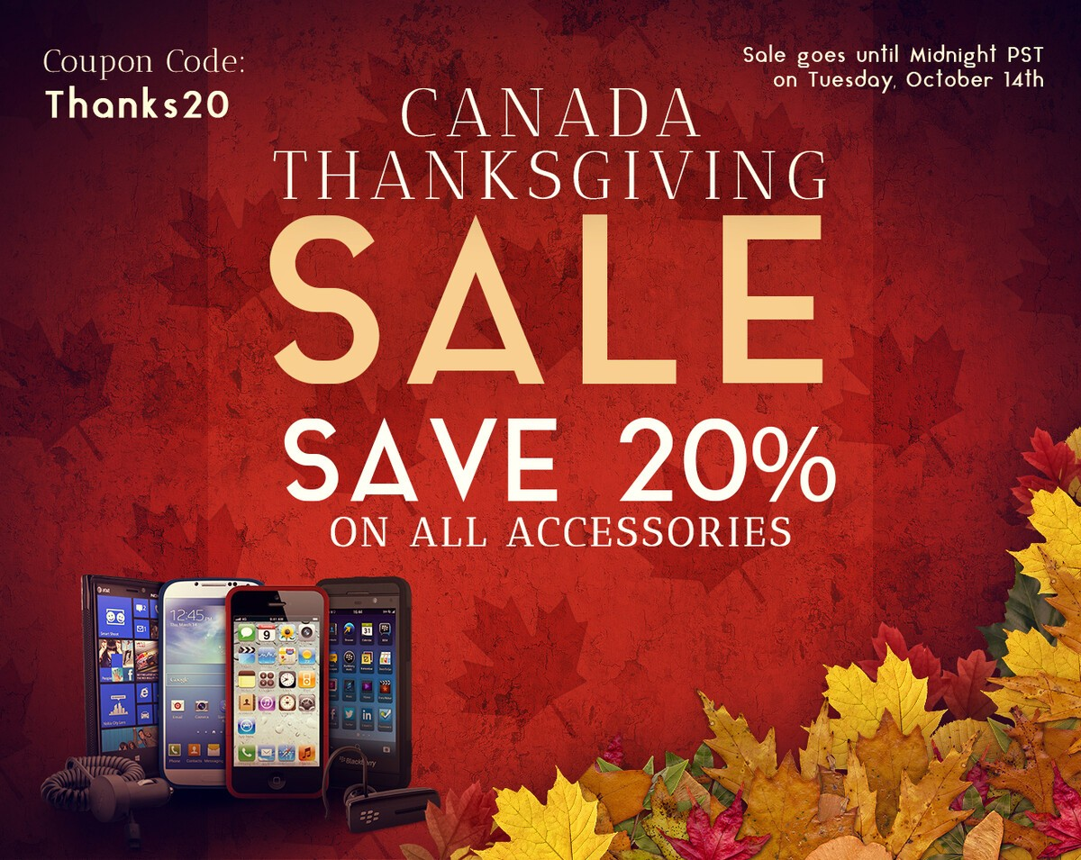 ShopCrackBerry Thanksgiving Sale - Save 20% on all accessories!