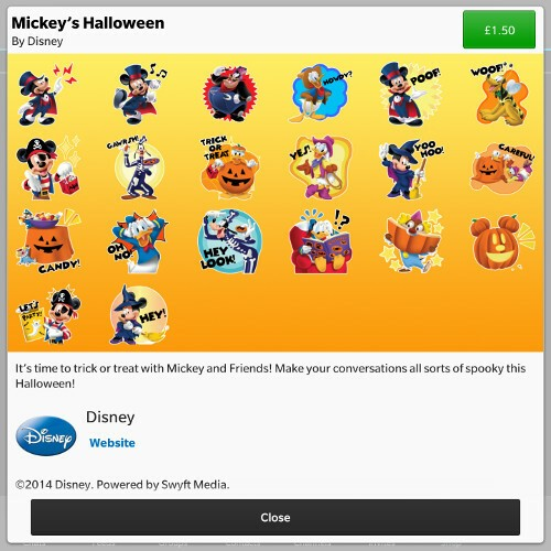 Mickey's Halloween BBM Sticker Pack