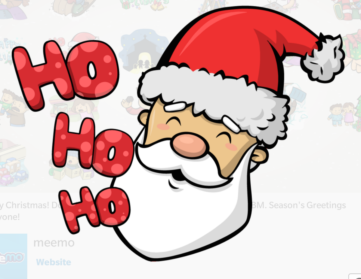 Christmas BBM sticker pack now available in the BBM Shop