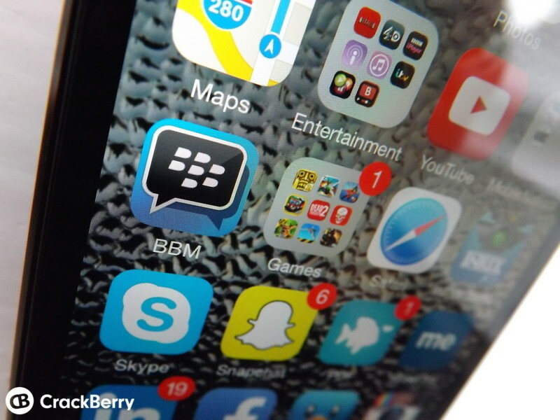 BBM for iOS updated to v2.6.1.31