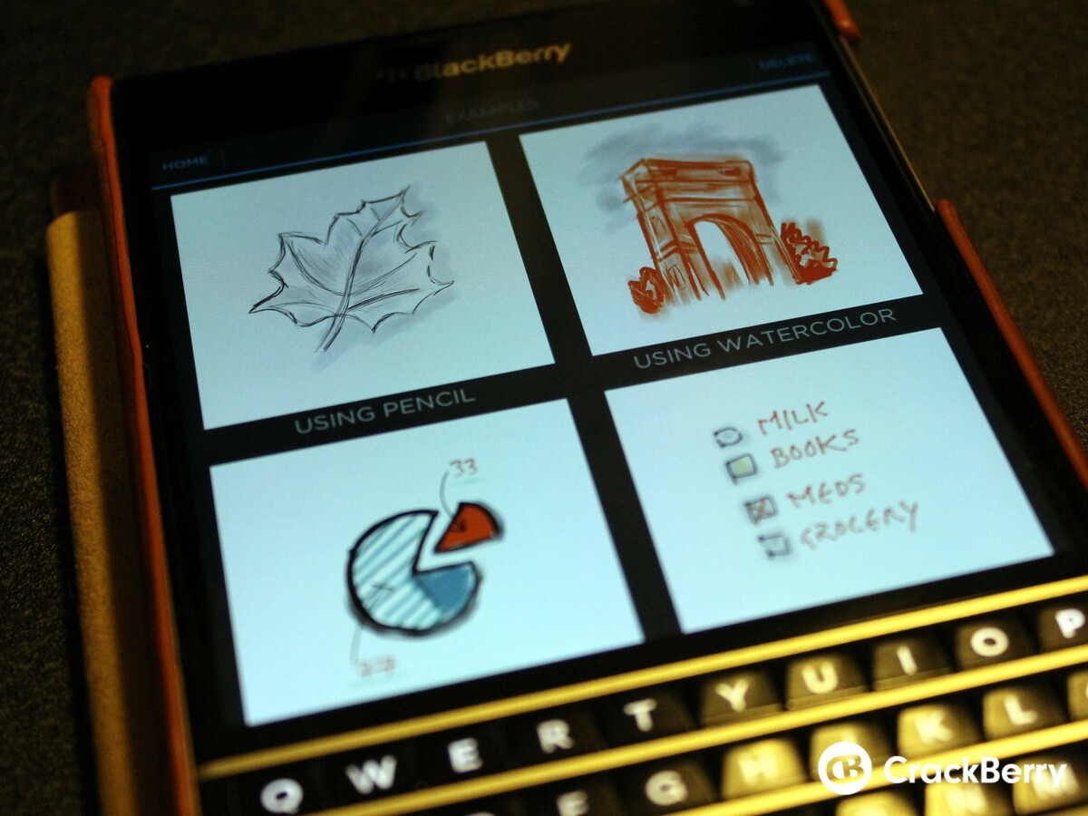 Here's a sneak peek into the upcoming SketchBook app for BlackBerry 10