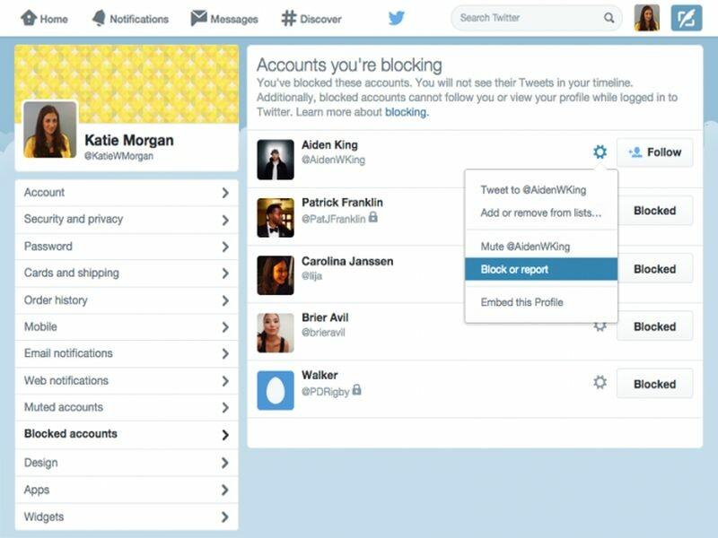 Twitter web Block