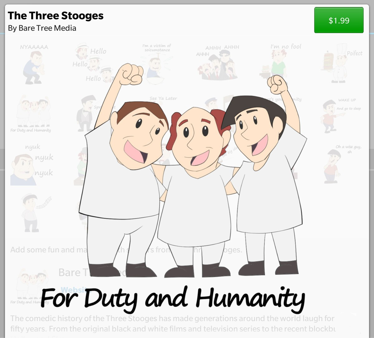 Nyuk, nyuk, nyuk! Three Stooges BBM stickers now available