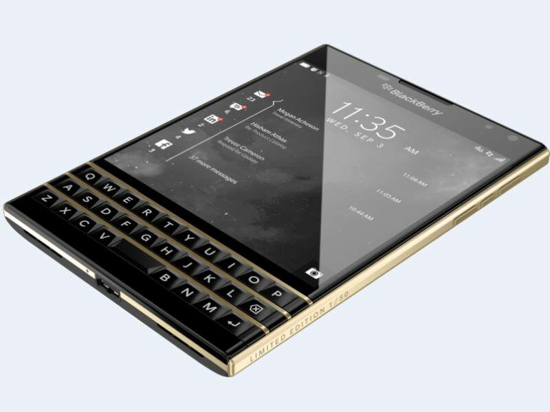 Gold BlackBerry Passport