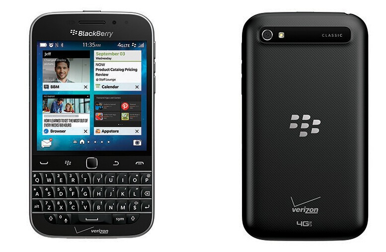 BlackBerry Classic now available online from Verizon Wireless