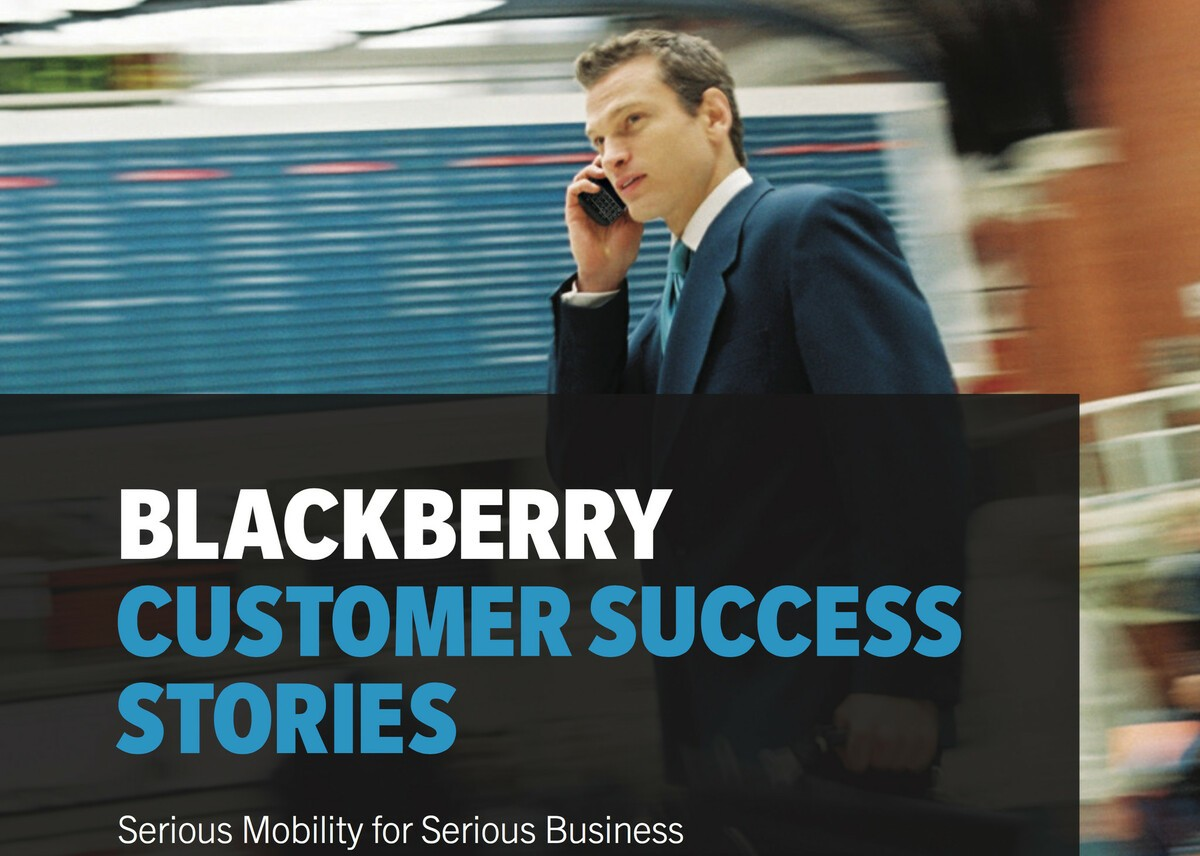 BlackBerry highlights their enterprise customer success stories with new e-Book