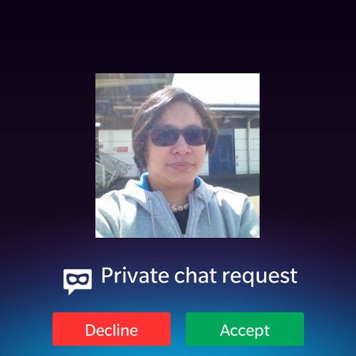 BBM Private Chat request