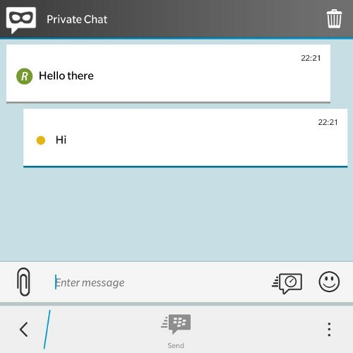 BBM Private Chat Window