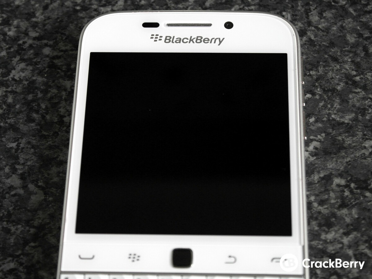 BlackBerry Classic White top half