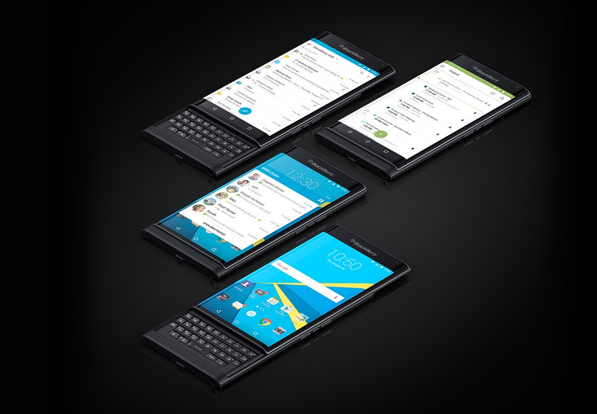 BlackBerry Priv stock apps go up on Google Play ahead of launch