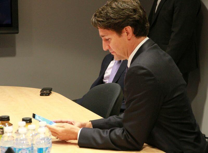 Trudeau with Priv