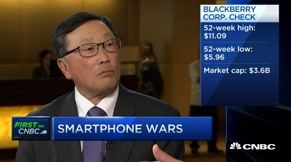 John Chen: We have two new phones coming out between now and the end of the year