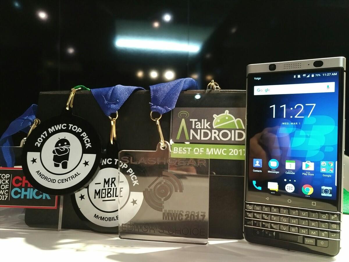 BlackBerry KEYone scores plenty of awards at Mobile World Congress!