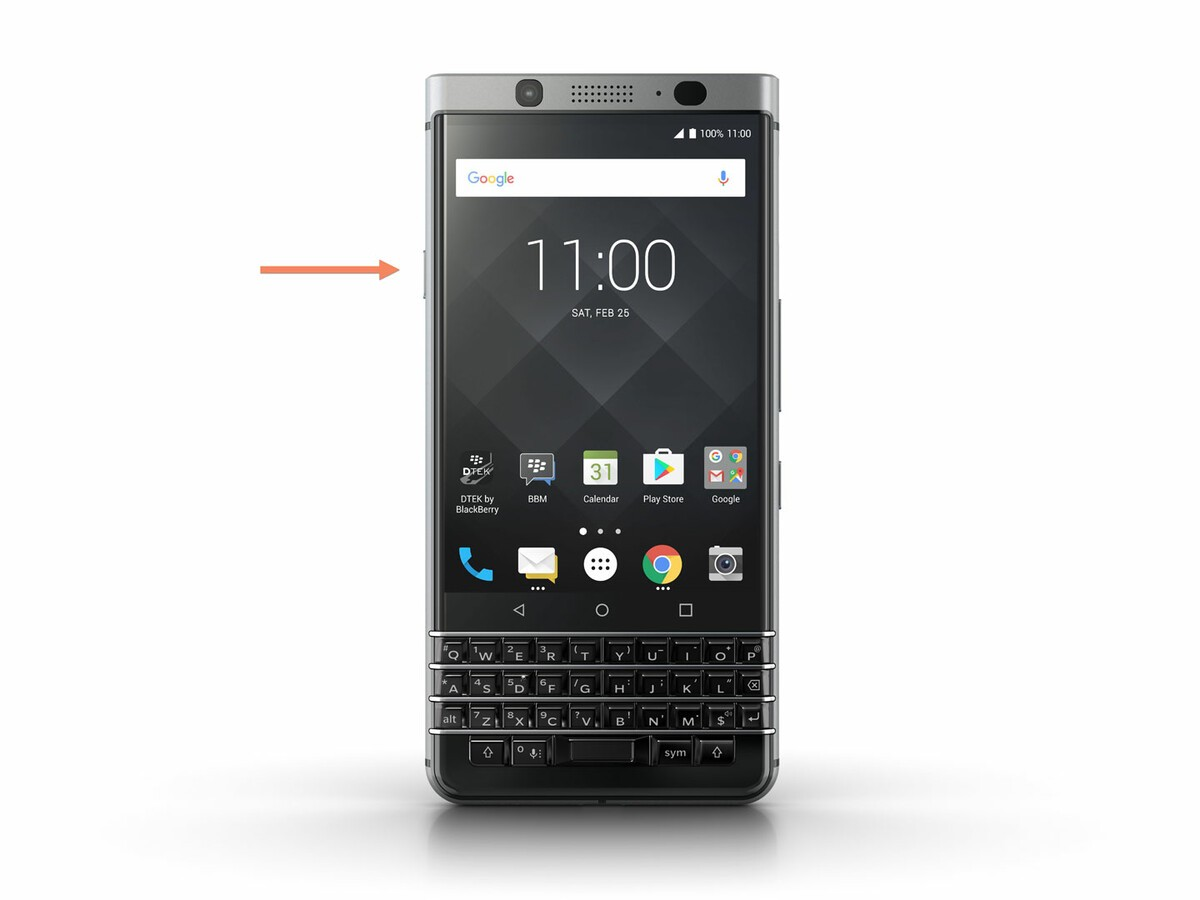 BlackBerry KEYone on/off key