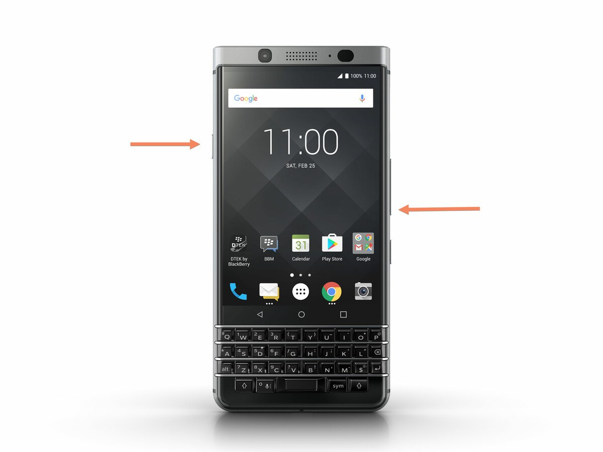 Setting a BlackBerry KEYone into recovery mode