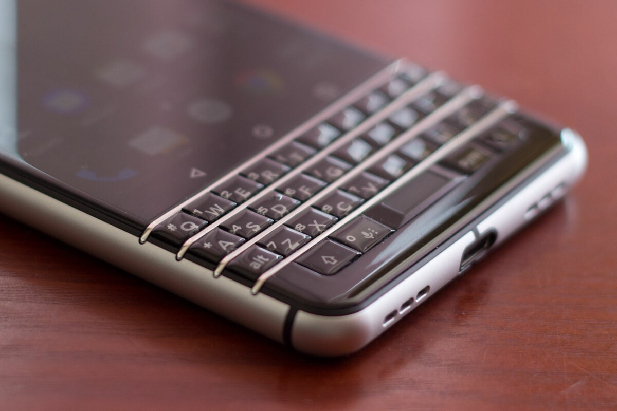 The BlackBerry KEYone keyboard