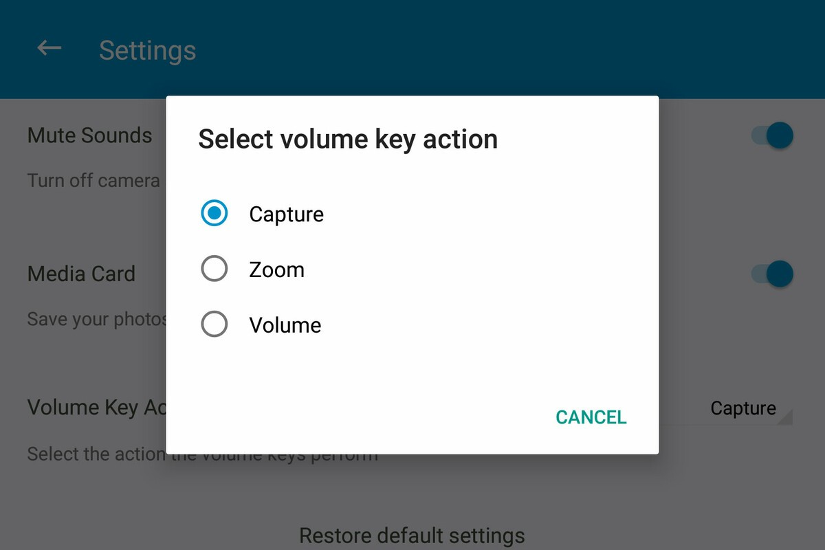 Switching the volume key to activate the BlackBerry KEYone shutter