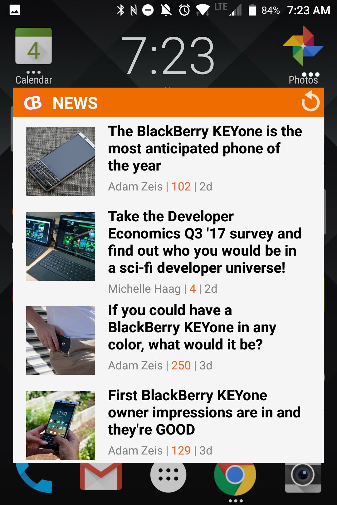 BlackBerry KEYone Review – Pushes All The Right Buttons screenshot blackberry keyone widget