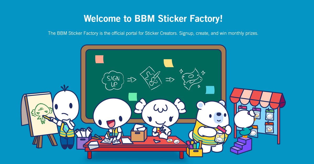You can now submit your own stickers to be available through BBM!