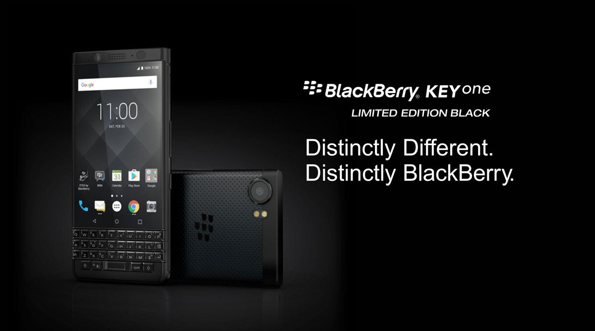 BlackBerry KEYone limited edition black now available in India! blackberry keyone limited edition black