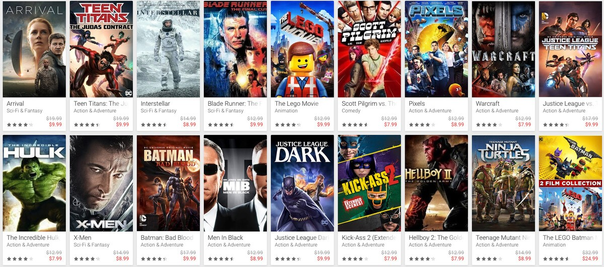 Snag some Comic-Con deals on movies from Google Play this weekend! comic con movies gplay