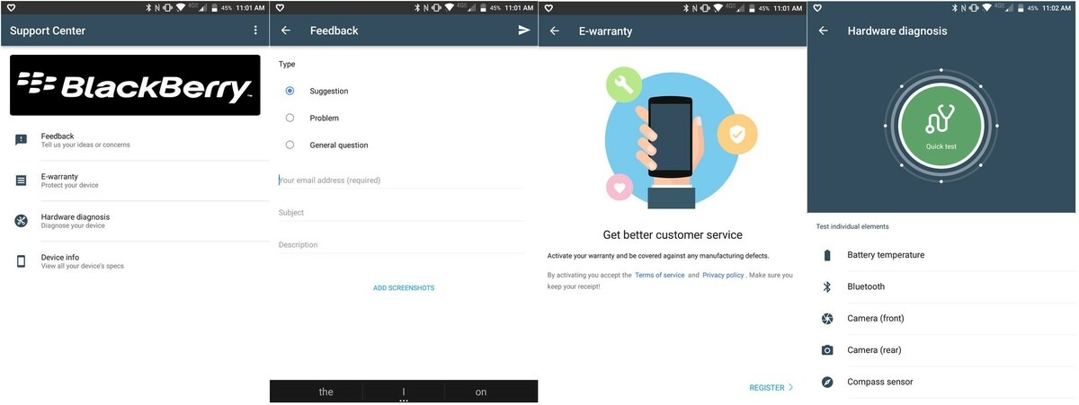 BlackBerry KEYone July update includes new Support Center app support center app keyone