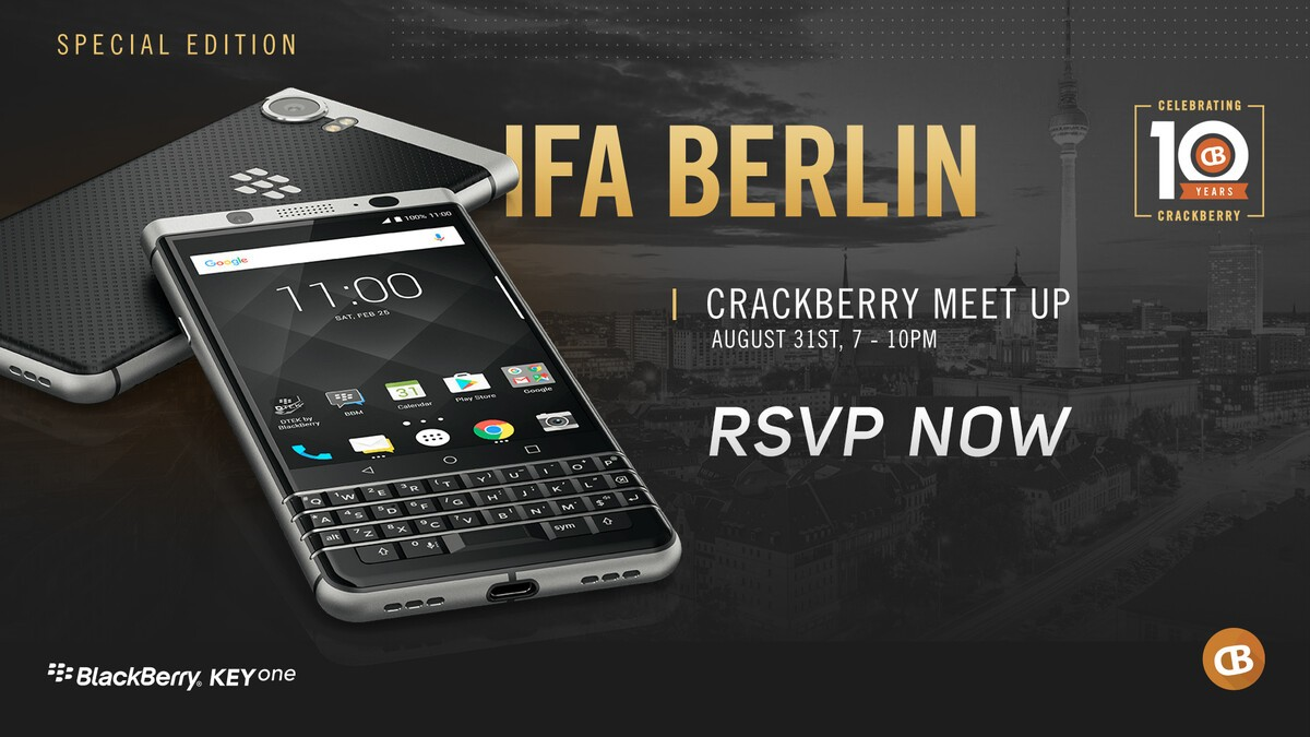 RSVP Now for a Special Edition CrackBerry Meetup in Berlin on August 31st! invitation berlin