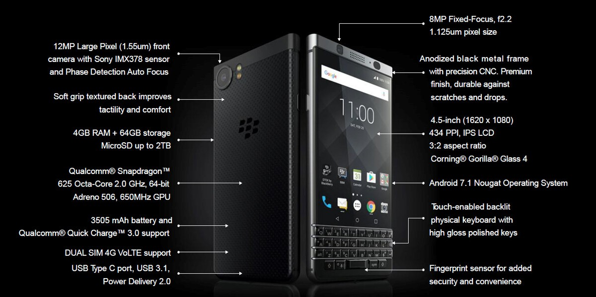 BlackBerry KEYone limited edition black now available in India! keyone specs
