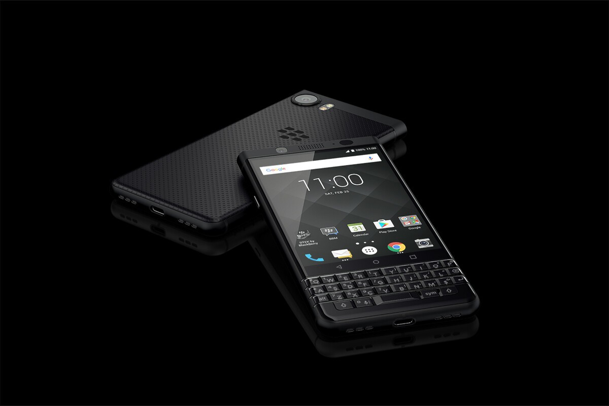 BlackBerry KEYone Black Edition available from Selfridges retail shop Sept. 14 BlackBerry KEYone BE Saturn Blank 0 0