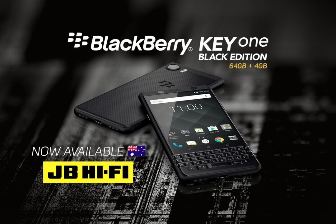 BlackBerry KEYone Black Edition now available from JB Hi-Fi! AusKEYoneTwitter Facebook CB 0