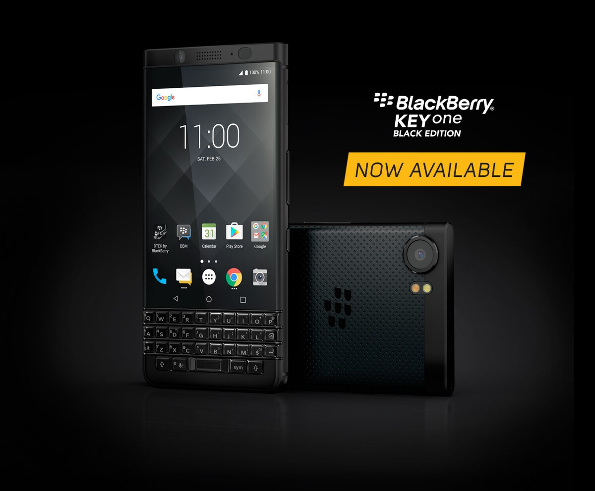 BlackBerry KEYone Black Edition now available from Walmart Canada! bg keyone black edition on sale