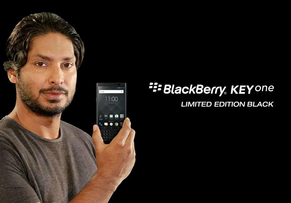 Optiemus launches the BlackBerry KEYone Limited Edition Black in Sri Lanka Kumar Sangakkara 0
