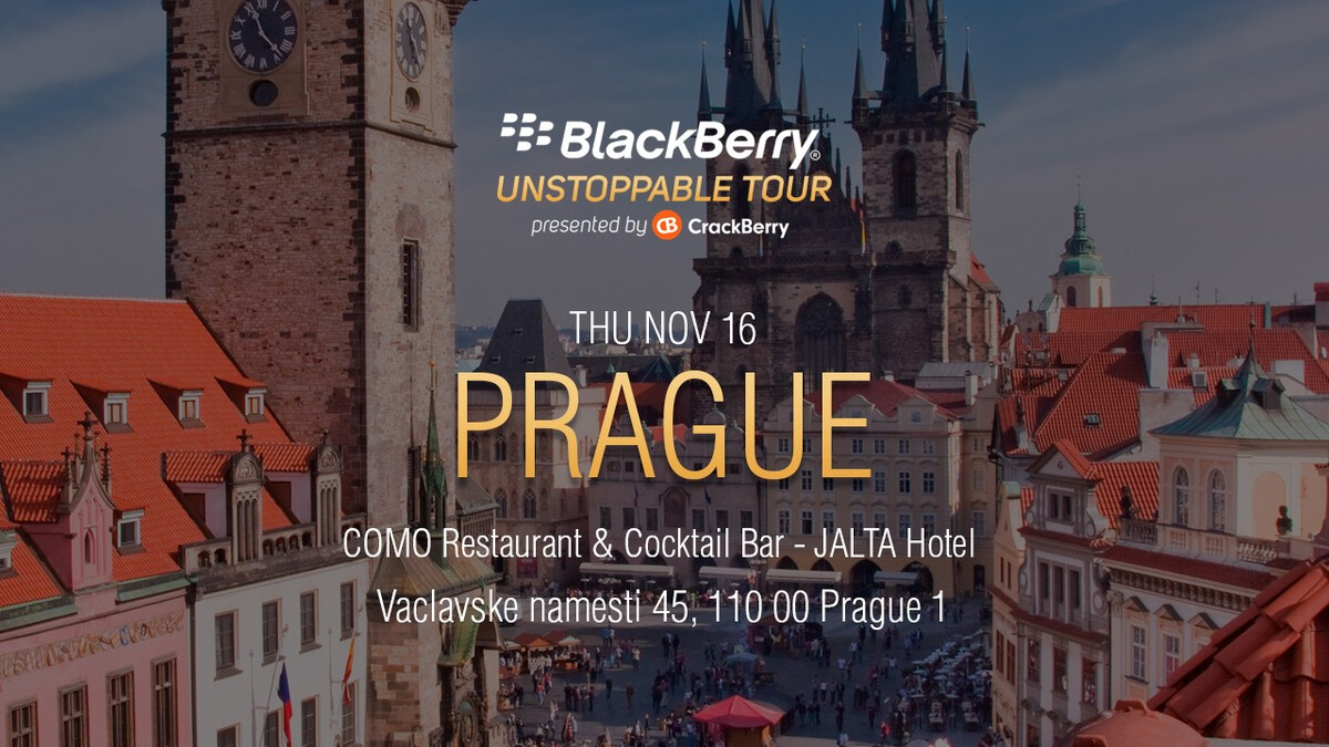 BlackBerry UNSTOPPABLE Tour comes to Prague this Thursday – RSVP Now! MeetUp PragueTwitterFB 0