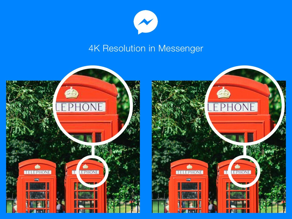 Facebook increases the resolution of photos that you can share on Messenger