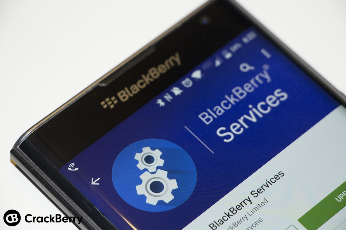 BlackBerry Services for the Priv updated through Google Play