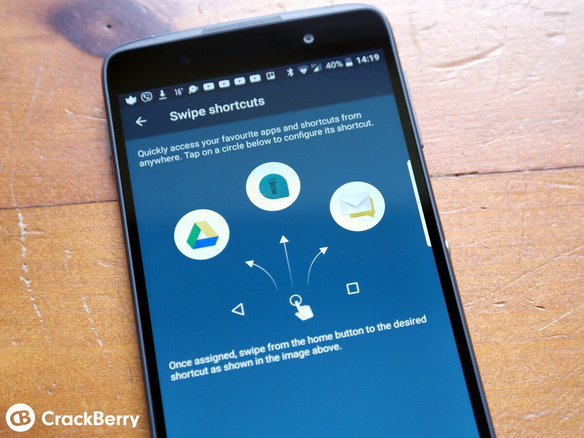 how to change shortcuts on android