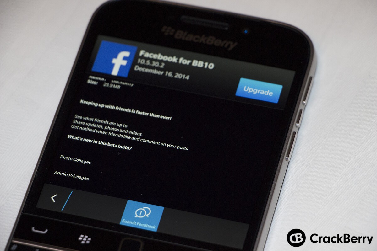 Facebook for BlackBerry 10