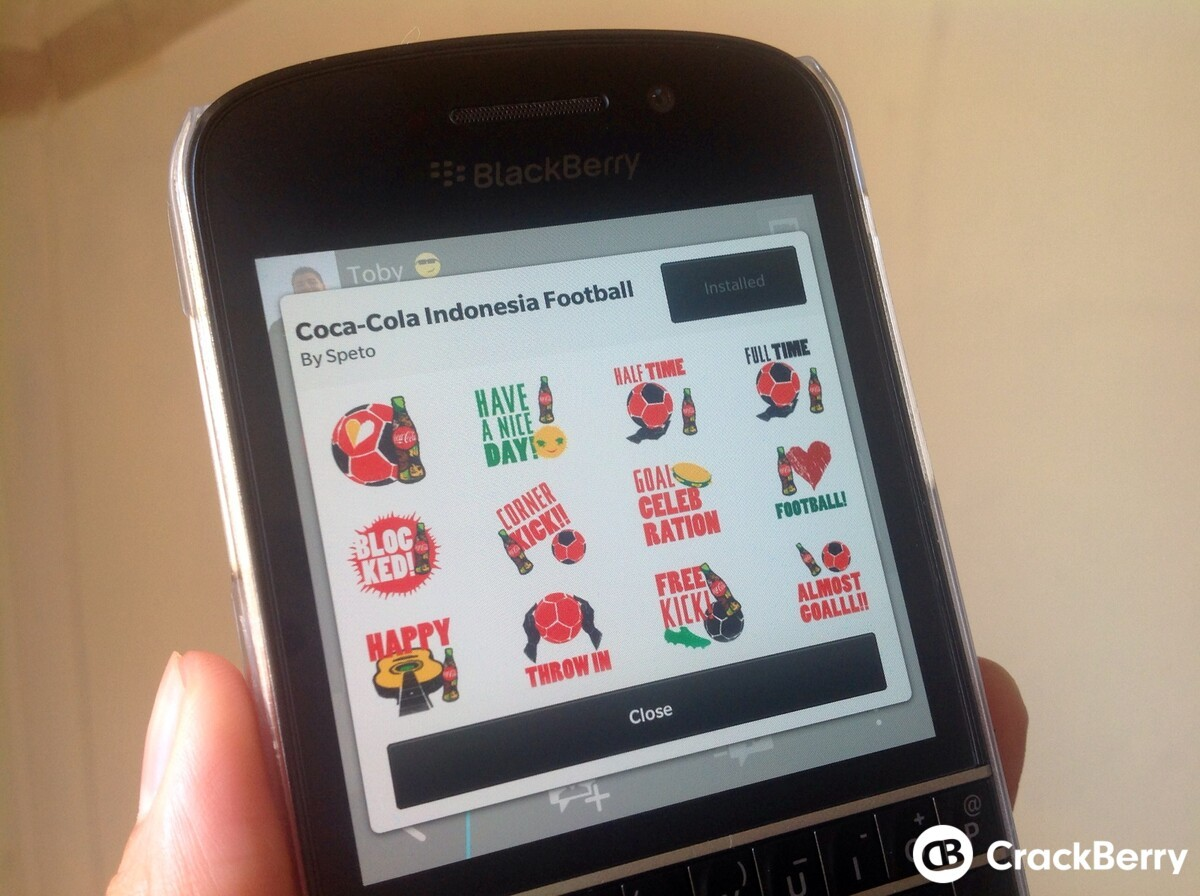 Limited Edition Coca-Cola Indonesia Football BBM Sticker available