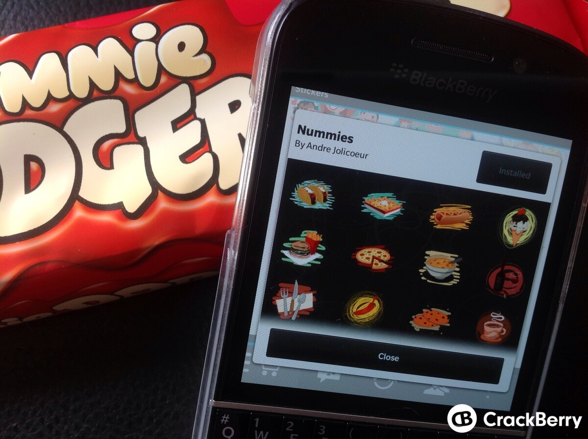 Express your love for food with the latest BBM Sticker pack Nummies