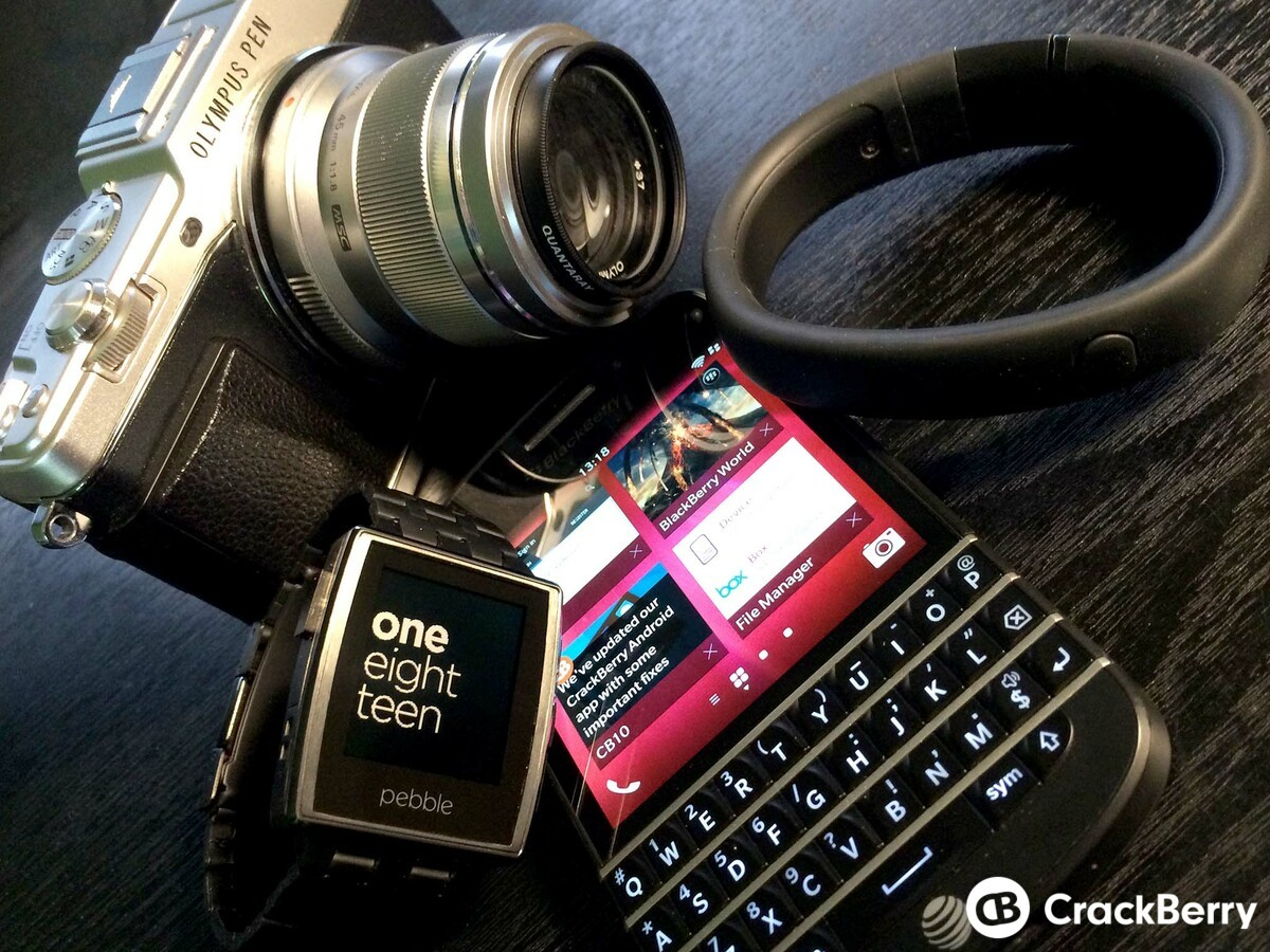BlackBerry Q10 with connected devices