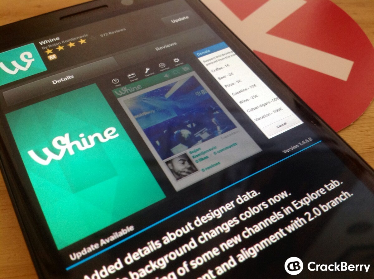 Whine gets an update to improvement user experience and iron out bugs