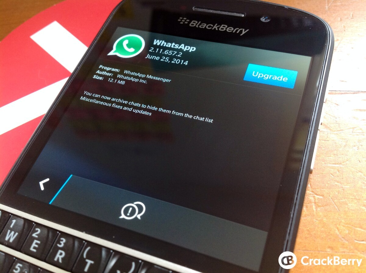 WhatsApp beta update lets you archive chats, get it from BlackBerry Beta Zone